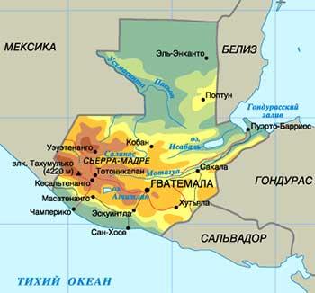 Карта Бангладеша