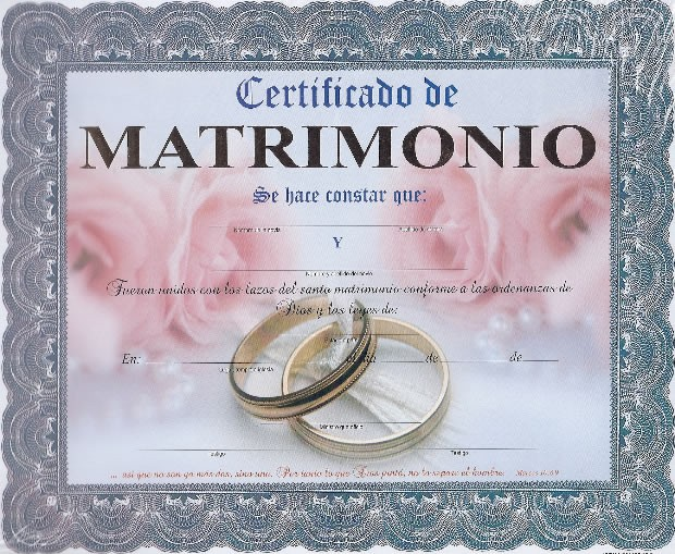 Certificado De Matrimonio Catolico : Certificados de matrimonio imagui