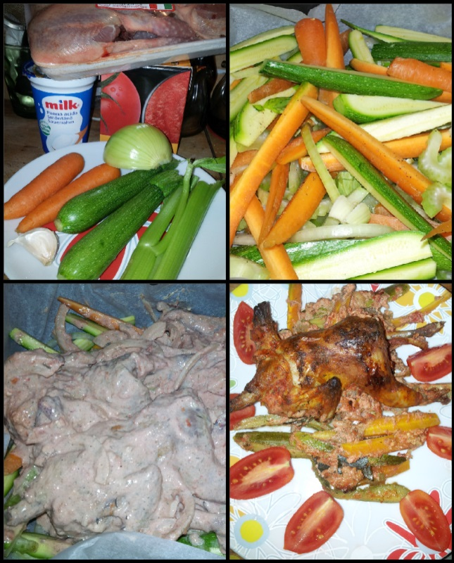 Перепелы с овощами в духовке