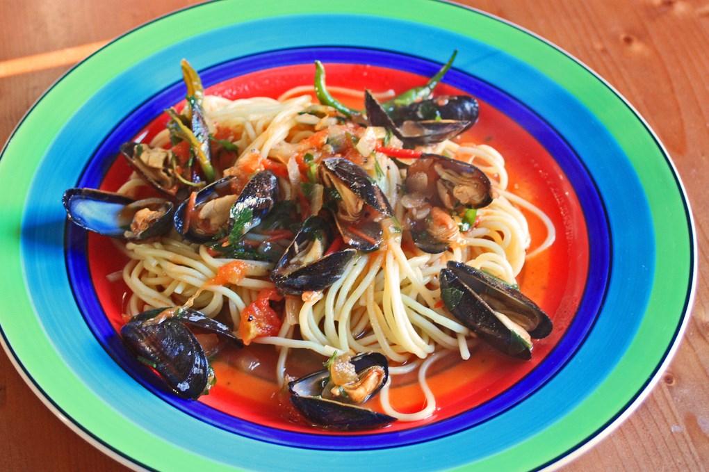 Спагетти с мидиями/Spaghetti con le cozze