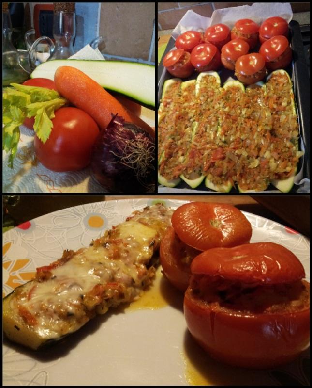 Запеченные в духовке цуккини и помидоры