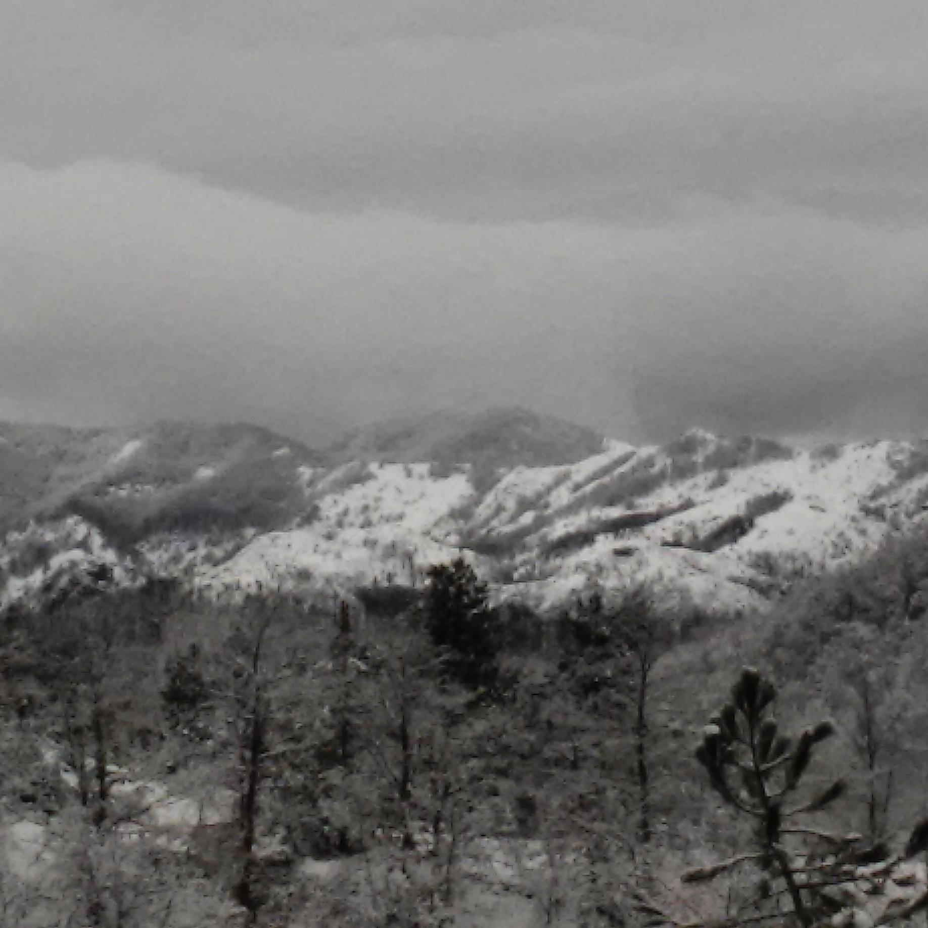 Белый снег,серый лёд